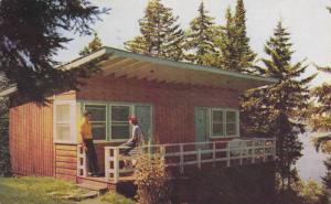 Showing A Two-Room Lodge, Agethe-des-Monts In The Laurentians, La Province De...