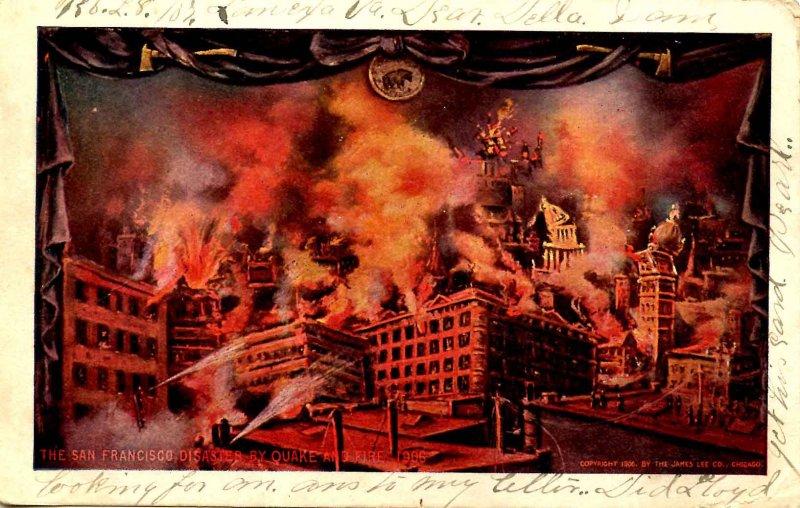 CA - San Francisco. 1906 Earthquake & Fire. Montage of Views