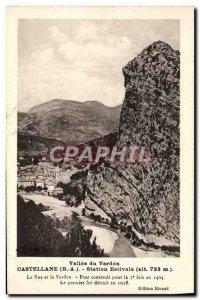 Old Postcard Summer Station Castellane Roc and Verdon