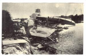 GUAM ; Sumay Amphibious Ramp, Remains of Japanese Zeke Torpedo Bomber airplan...