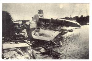 GUAM ; Sumay Amphibious Ramp, Remains of Japanese Zeke Torpedo Bomber airplan...