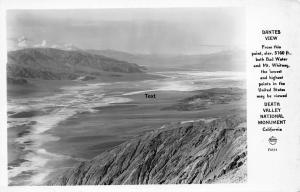 DEATH VALLEY, CALIFORNIA, DANTE'S VIEW RPPC REAL PHOTO POSTCARD