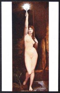 140505 LEFEBVRE The Truth Allegory Nude Female French Art Salon VTG pc c.1910