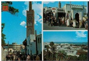Postcard - Tanger - Zoco Grande Mezquita de Sidi-Bu-Abid Puerto Tangier Morroco