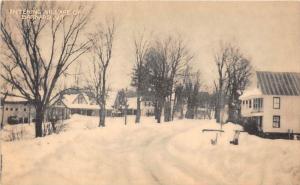 Vermont Barnard View of Village in Winter