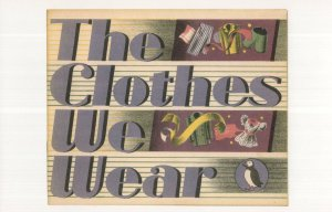 The Clothes We Wear 1947 Puffin Book Postcard