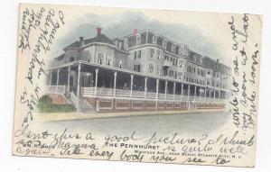 Atlantic City NJ Pennhurst Hotel Michigan Ave 1906 Hand Colored UDB Postcard