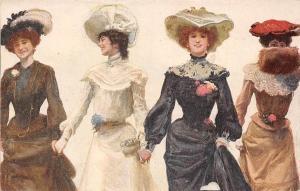 Fashion Hats Dress Ladies Women Dames Femmes, Espana Tarjeta, Postcard
