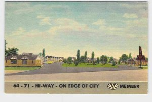PPC POSTCARD ARKANSAS FORT SMITH TERRY'S MOTOR COURT AAA TRIPLE A MEMBER MOTEL H