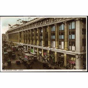 Photochrom Co. Ltd. Postcard 'The Selfridge Store, London'