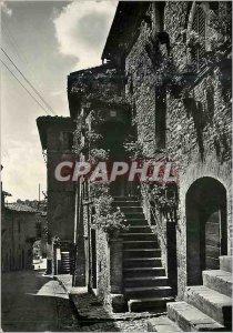 Modern Postcard Assisi Via Fontebella Balconi Fioriti