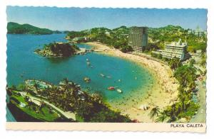 Playa Caleta Acapulco Mexico Beach Stamp