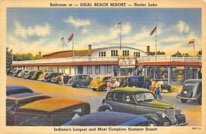 Monticello IN Shafer Lake Ideal Beach Resort linen postcard.