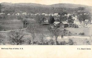 Sutton New Hampshire panoramic birds eye view of area antique pc Z26056