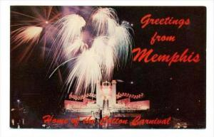 Fireworks, Cotton Carnival, Memphis, Tennessee, 1940-60s