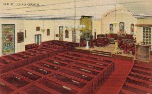Richmond, Virginia, VA, Old St. John's Church, Linen Vintage Postcard g9177