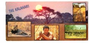 The Kalahari, Game Preserves, Parks. Animals, Black Man, Used in Botswana 1999