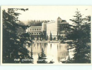 old rppc HOTEL SCENE Banff Alberta AB W0818