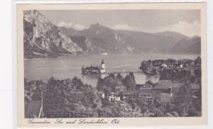 Gmunden, See und Landschloss Ort., Higher-Austria, Austria, 10-20s