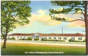 View of Headquarters, Camp Davis, North Carolina, 20-40s