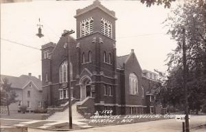 Wisconsin Monroe Immanuel Evangelical Church Real Photo