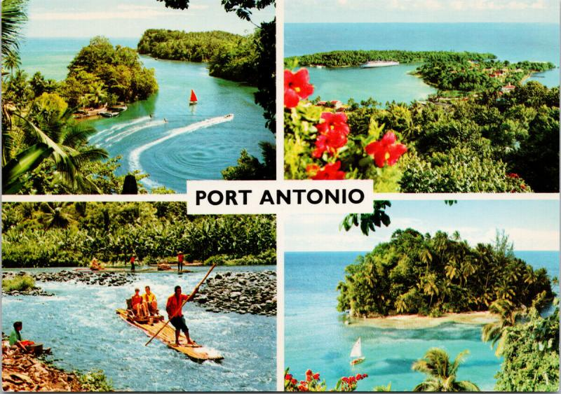 Port Antonio Jamaica West Indies Multiview John Hinde Postcard D94