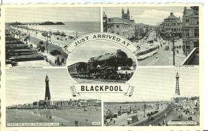 UK, Just Arrived at Blackpool, 1958 used Postcard