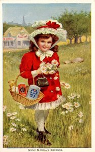 Advertising Trade Card - Heinz. Going Mamma's Errands    (5.5 X 3.5)