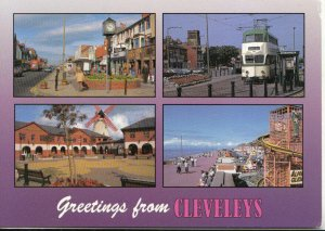 Lancashire Postcard - Greetings from Cleveleys - Ref 20720A