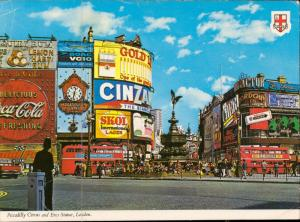 london Piccadilly Circus eros statue animated reclam advertise
