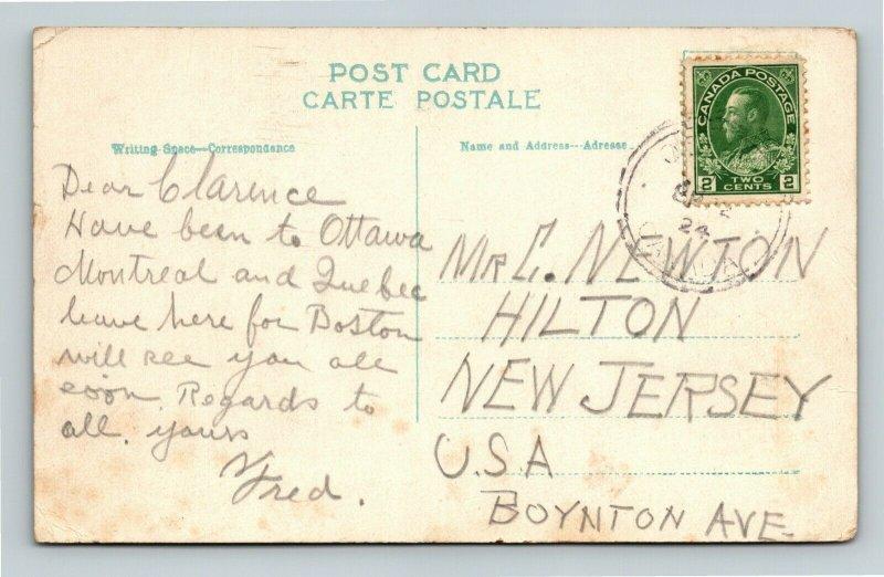 Hull, Quebec-Canada, Interprovincial Bridge, Vintage c1924 Postcard