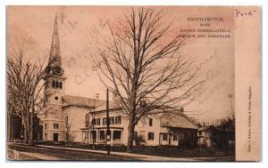 1919 Payson Congregational Church and Parsonage, Easthampton, MA Postcard