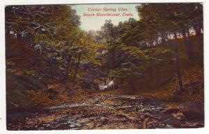 P348 JLs old unused postcard center spring glen south manchester conn