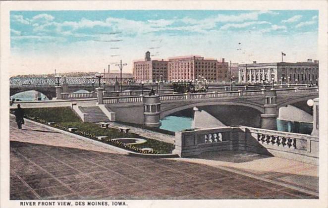 Iowa Des Moines River Front View 1936 Curteich