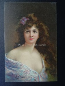 GLADYS After Original Painting by A. ASTI Paris Saloon c1908 by Raphael Tuck