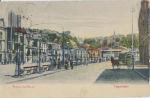 Valparaiso Chile - AVENIDA DEL BRAZIL (BRASIL) 1910s