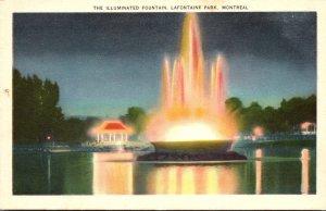 Canada Montreal Lafontaine Park Illuminated Fountain