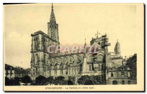 Old Postcard Strasbourg cathedral south coast