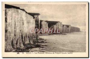 Old Postcard Ault Cliffs direction Treport high Maree