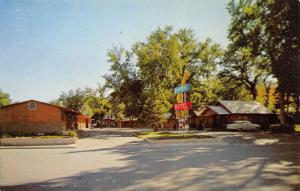 Spearfish South Dakota~Kamp Kool Motel~Neon Arrow Sign~Glen Collins~1950s Car