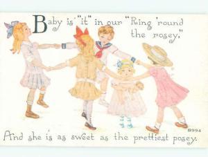 Pre-Linen KIDS DANCING IN A CIRCLE AC1189