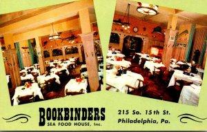 Pennsylvania Philadelphia Bookbinders Seafood Restaurant Main Dining Room Sou...