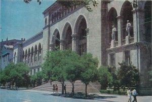 Postcard Azerbaijan BAKU loggies of the Akchundov library