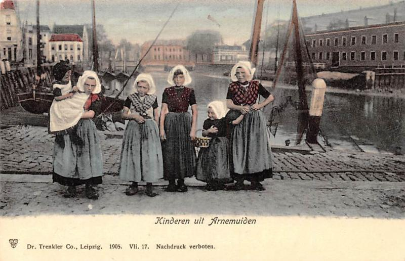 Netherlands Holland Zeeland Kinderen Arnemuiden, Children Traditional Costumes