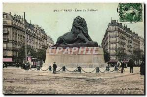 Paris - 14 - The Lion of Belfort - Bartholdi - Sculptor - Boulevard Raspail a...