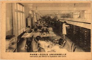 CPA PARIS 16e-Ecole Universelle-Inscription des éléves et expédition (325850)