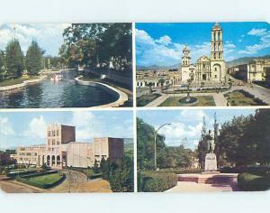 Pre-1980 FOUR VIEWS ON ONE POSTCARD Saltillo - Coahuila Mexico F5842