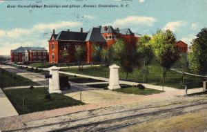 State Normal College Buildings & College Avenue, GREENSBORO,North Carolina, 1910