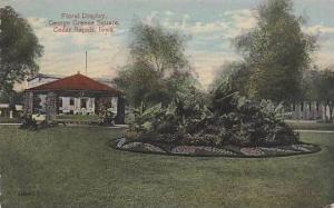 Iowa Cedar Rapids Floral Display George Greene Square