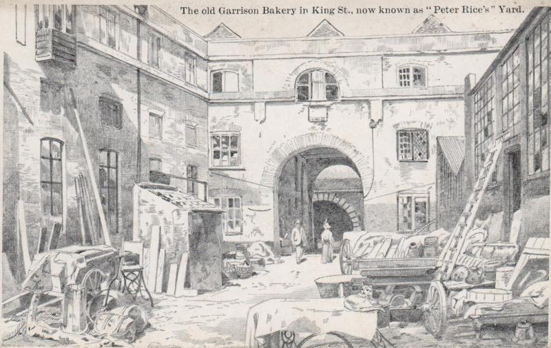 Garrison Bakery, Kings St. Portsmouth, England - Drawing - Unused